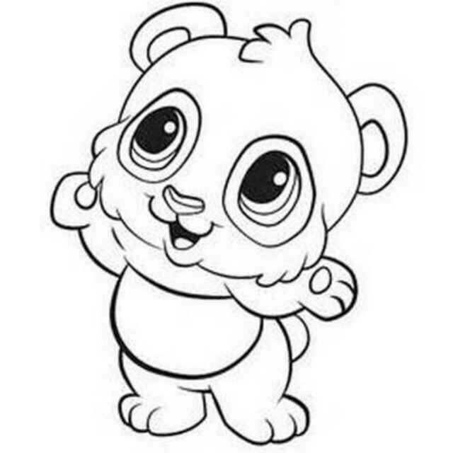 可爱的大熊猫简笔画